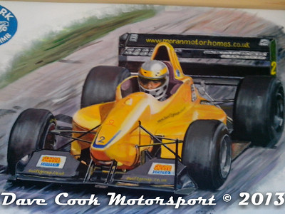 Scott Murran, Part of Calvin Talbot's Mural at Loton Park, unveiled at the Loton Park Hill Climb in September 2013