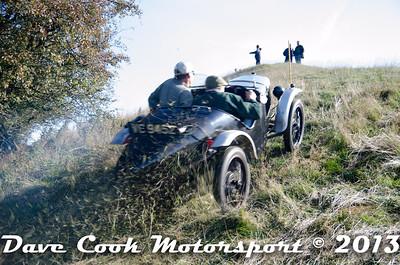 Ian Webb And Jon Yeeles - Austin 7, showering grass at the MGCC Autumn Trial at Burton Dassett
