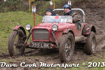 Chris Wall and Tony Underhill at Greenway Lane on the Mechanics trial in their Cannon