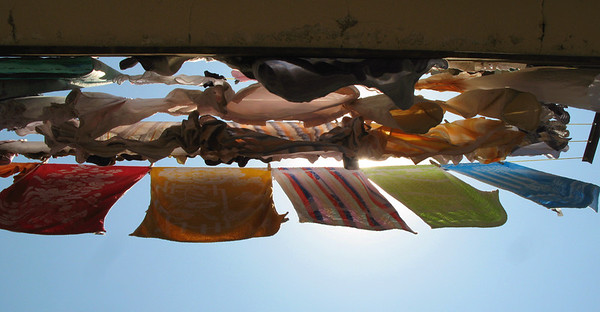 Sun-dried washing