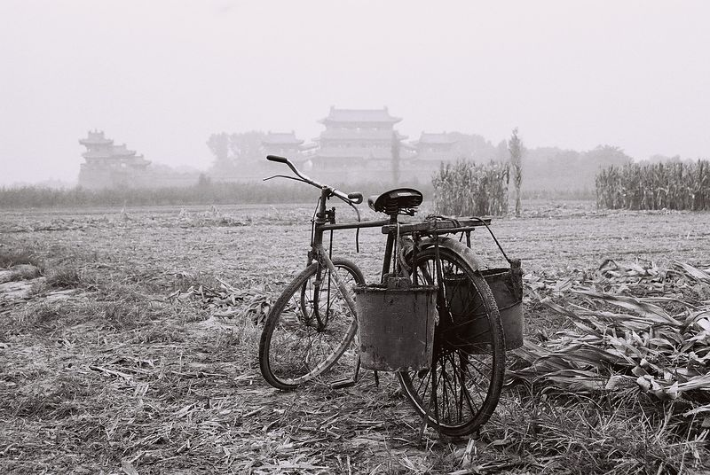 china -bike at temple