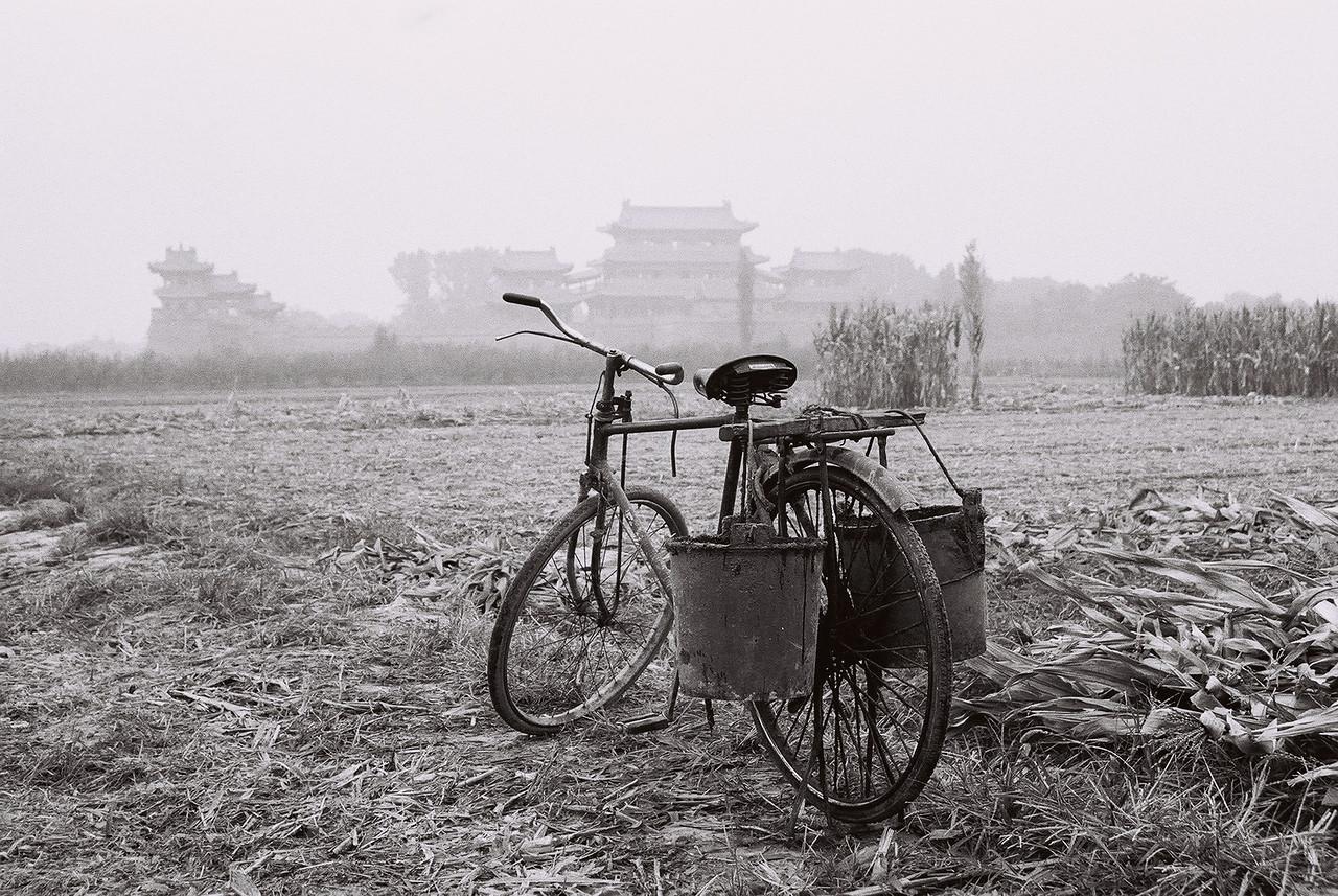china -bike at temple