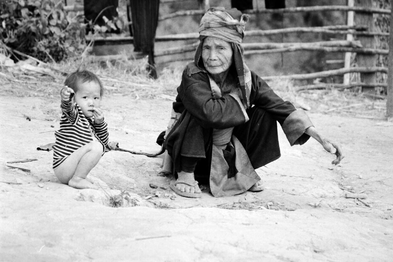 laos -grandmother and baby