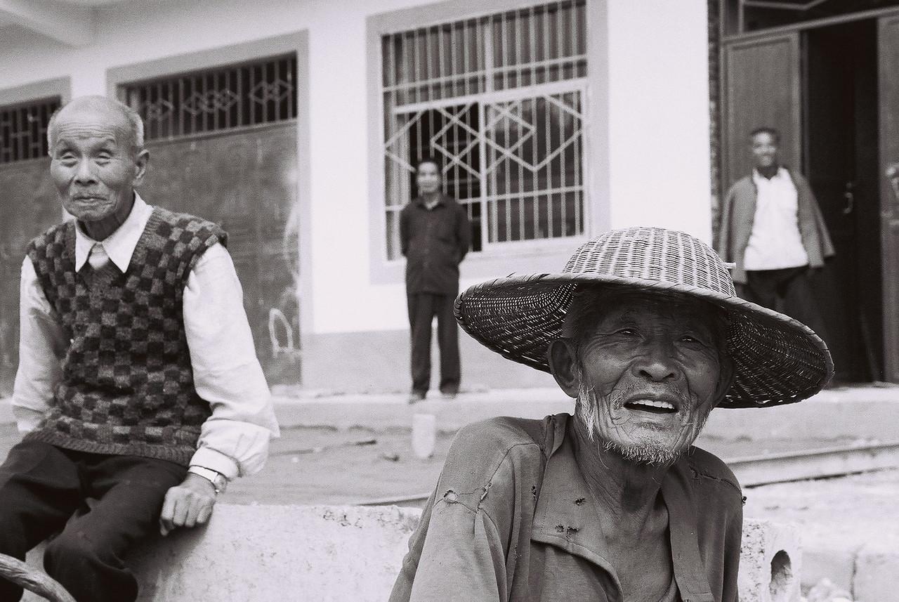 china -old man big hat1