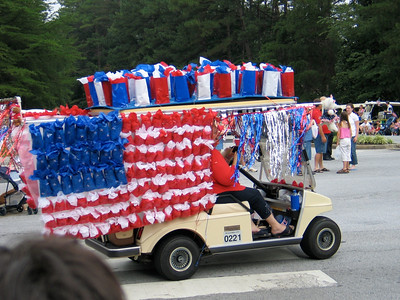 PTC golf cart in July 4th parade