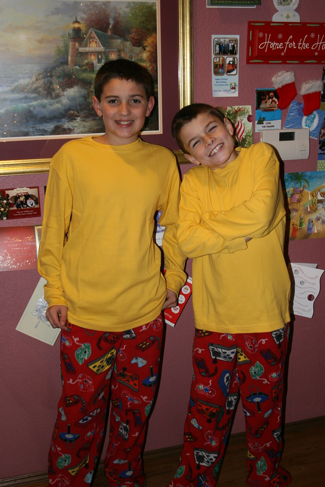 Wes and Chase - new jammie twins!