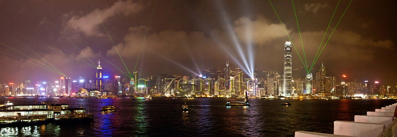 Hong Kong Harbor Light Show