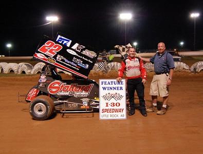 Mini-Sprint Feature Winner #22 Travis Senter, Jr