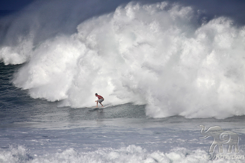 Surfing a Monster North Shore Wave