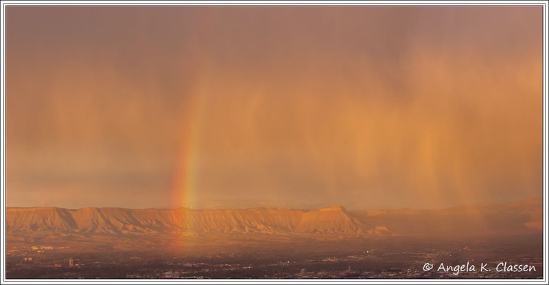 "May Featured Photo - ""Mt. Garfield Rainbow"""