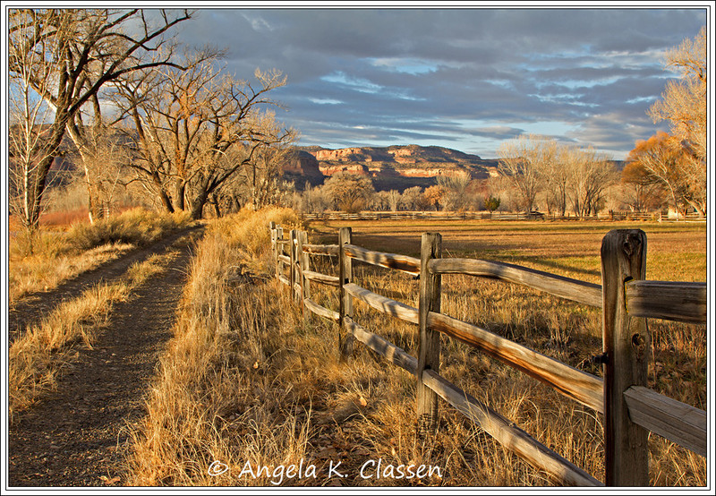 "November 2013 Featured Monthly Photo<br /> ""Horsethief Ranch""<br /> Private property near Loma, CO"