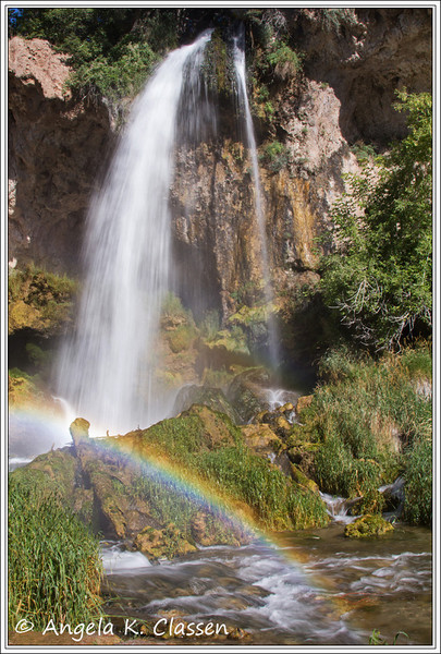 "August 2013 Featured Monthly Photo<br /> ""Rifle Falls Rainbow""<br /> Rifle Falls, Rifle, CO"