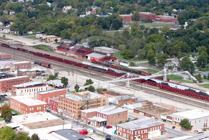 Historic Commercial Street, Ozarks Aerial Photography, Springfield, Missouri