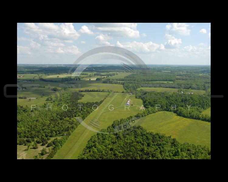 Aerial photograph of grass air runway.