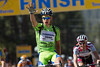 Sagan shows he's a force to be reconded with, taking the sprint with ease over Rory Surtherland and Rogers, all three get bonus seconds.