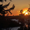 Sunset view from the balcony of the vacation home we rented in Frenchmen Bay near Bar Harbor, Maine.
