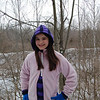 Natalie McFall on a winter walk at Rangeline Nature Preserve.<br /> <br /> Photographer's Name: Mike McFall<br /> Photographer's City and State: Anderson, Ind.