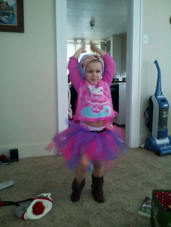 My 4-year-old niece (Izzy McGregor of Frankton) practicing her ballet.<br /> <br /> Photographer's Name: Mike Appleby<br /> Photographer's City and State: Anderson, Ind.