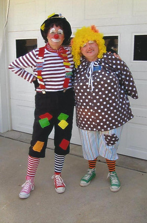 Patches and Gracie Klutz are clowns that visit area nursing homes in the Anderson area. <br /> <br /> Photographer's Name: Judy Baylor<br /> Photographer's City and State: Anderson, IN