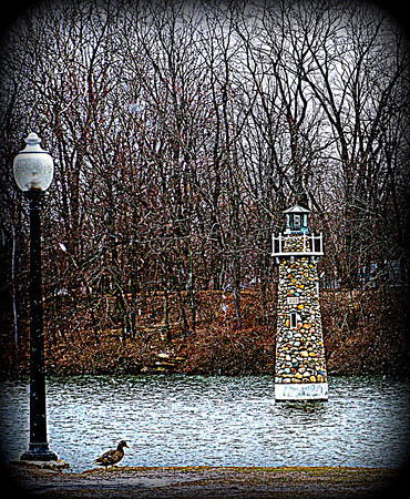 Snowy day at Falls Park in Pendleton, Indiana.<br /> <br /> Photographer's Name: Debra Howell<br /> Photographer's City and State: Pendleton, Ind.