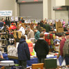 The Gun and Knife Show at Bridge View Center was packed Saturday afternoon. One vendor said they've noticed that gun show crowds have become more evenly split among women and men ever since talk of a ban started.