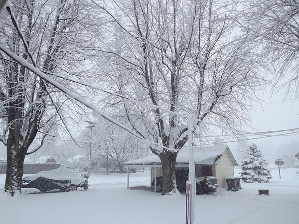 A snow day in Orestes.<br /> <br /> Photographer's Name: Peggy Kirby<br /> Photographer's City and State: Orestes, Ind.