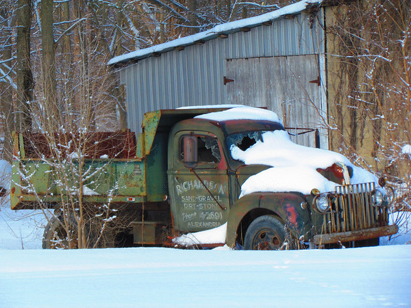 An old truck in the snow.<br /> <br /> Photographer's Name: Brian Fox<br /> Photographer's City and State: Anderson, Ind.