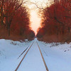 A look down the snowy tracks at sun set in south Anderson.<br /> <br /> Photographer's Name: Brian Fox<br /> Photographer's City and State: Anderson, Ind.