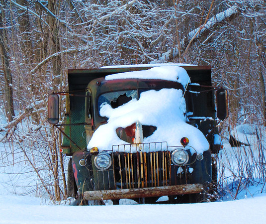 An old work truck in ths snow near Alex.<br /> <br /> Photographer's Name: Brian Fox<br /> Photographer's City and State: Anderson, Ind.