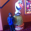 "Our grandson staying warm at the movie ""Frozen."" <br /> <br /> Photographer's Name: Brenda Caldwell<br /> Photographer's City and State: Anderson, Ind."