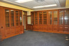 A view of the original cabinetry in the dean's office, second floor.