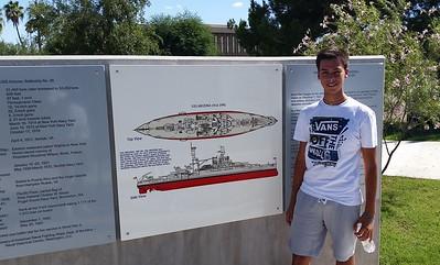 Federico at USS Arizona memorial