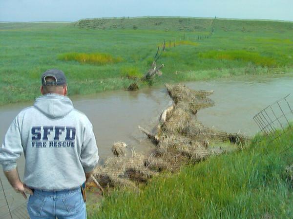 water was 10-12' deep