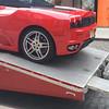 Ferrari being delivered