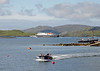 20 minutes later she is on her way to Oban (arrive 14:10), passing the ferry which carries tourists out to Kisimul Castle. Clansman was built at Appledore in North Devon in 1998.