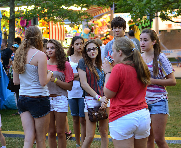 Teens at carnival in Bristol RI, July 2012