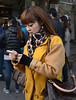 Beijing, China  Nov. 2013.  Well dressed shopper in Dongcheng District.