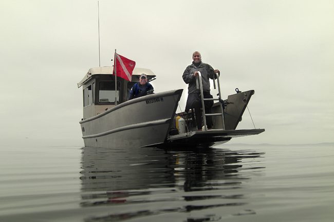 "Pete and Mark and my favorite dive boat -Todd's ""Xlendi Bay"" - named after his favorite place in Malta."