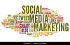 Choice 2 of 9<br /> <br /> CW5RKT Social media marketing concept in word tag cloud on white background