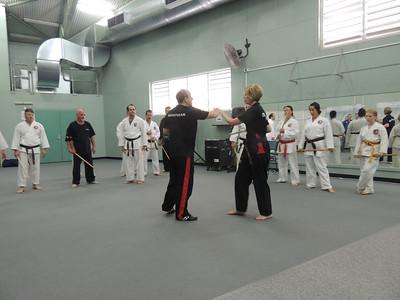 Grandmaster Angelo 8th Dan Founder Filipino Kyusho with Sensei Patricia Fast 5th Dan Combat Karate Noosa