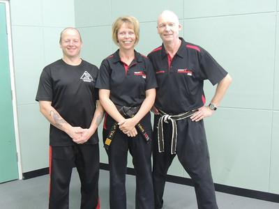 Grandmaster Angelo 8th Dan Founder Filipino Kyusho with Shihan Martin Day & Sensei Patricia Fast 5th Dan Combat Karate