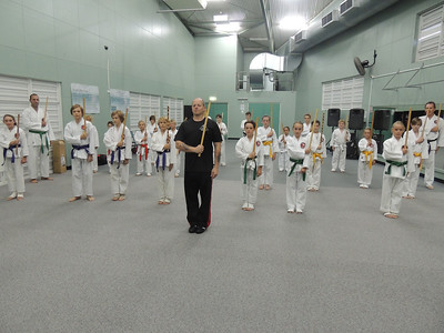 Grandmaster Angelo 8th Dan Founder Filipino Kyusho with Combat Karate Junior Training Class self Defence for kids, Noosa