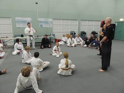 Andy Meek 1st Dan Combat Karate Noosa with Grandmaster Angelo 8th Dan Filipino Kyusho & Shihan Martin Day Combat Karate