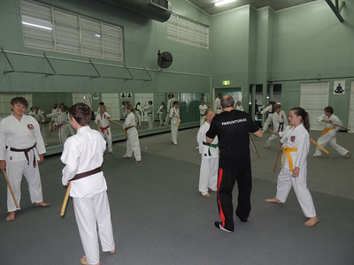 Combat Karate Junior Class Combat Karate Training in Noosa with GM Angelo - Left - Joe Harris & Jack Bowen CK Coaches