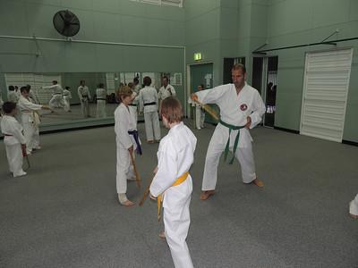 Andrew Bowen assisting on GM Angelo's Seminar, Combat Karate Noosa