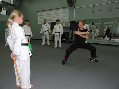 With Eryn & Grandmaster Angelo 8th Dan Founder Filipino Kyusho Combat Karate