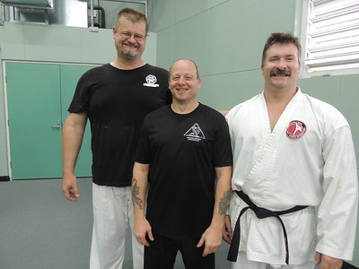 Grandmaster Angelo 8th Dan Founder Filipino Kyusho with John Gam & Andy Meek Combat Karate Noosa