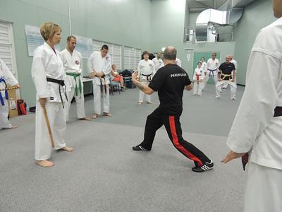 Grandmaster Angelo 8th Dan Founder Filipino Kyusho with Sensei Patricia Fast 5th Dan Combat Karate, Noosa,Queensland February 2014