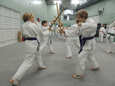Combat Karate students Jez & Zade Harris on GM Angelo's Seminar February 2014