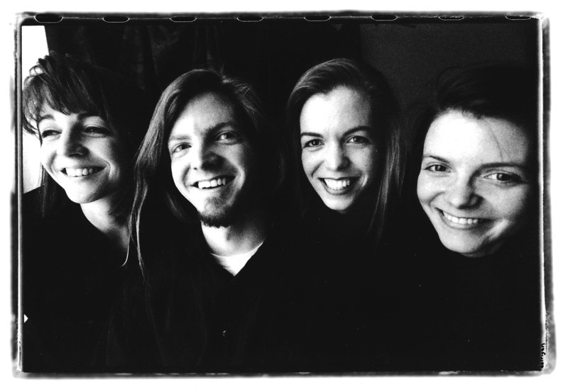 chuck with the sisters. photo by Daniel Corrigan http://www.danielcorrigan.com